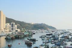 ett Aberdeen tyfonskydd i Hong Kong Royaltyfria Foton