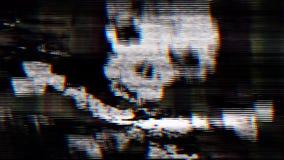 Ett abstrakt begrepp piratkopierar scullen på PCskärmen Royaltyfri Fotografi
