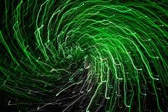 Ett abstrakt fotografi av den ljusa kulöra spiralen fodrar Royaltyfri Fotografi