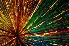 Ett abstrakt fotografi av ljusa kulöra linjer Royaltyfri Foto