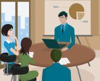 Ett affärsmöte Vektor Illustrationer