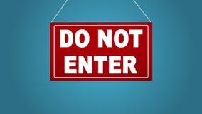 Ett affärstecken, som säger, skriver in inte Brädet faller och svänger background card congratulation invitation vektor illustrationer