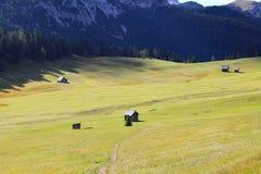 Ett alpint landskap, Dolomites, Italien arkivbild