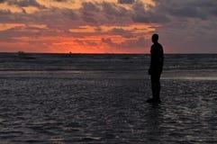 Ett annat ställe på solnedgången Arkivfoto