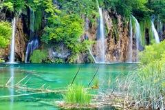 Ett av de mest härliga ställena i världen Plitvice - Kroatien Arkivfoton