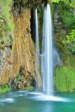 Ett av de mest härliga ställena i världen Plitvice - Kroatien Fotografering för Bildbyråer