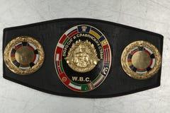 Ett bälte av mästaren i boxning WBC Arkivbilder