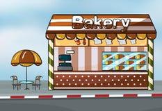 Ett bageri shoppar Arkivbild