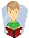 Ett barn som läser en bokillustration Royaltyfri Foto