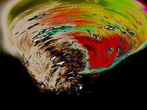 Ett behandlat foto av en tromb fotografering för bildbyråer