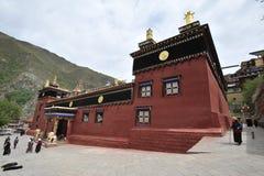 Ett berömt och viktigt kulturellt nav i Tibet Arkivfoto