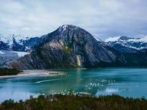 Ett berg i patagonia Arkivfoton