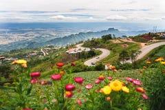 Ett berglandskap av Phu badar Berk Royaltyfri Fotografi