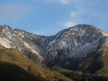 Ett bergsidodrev till och med monteringen Baldy Arkivbild