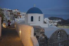 Ett besök i Santorini Grekland arkivfoto