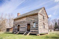 Ett bevarat historiskt wood hus arkivfoto