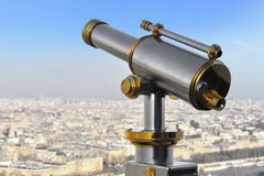 Eiffel står hög teleskop Royaltyfri Bild