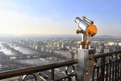 Eiffel står hög teleskop Arkivbild