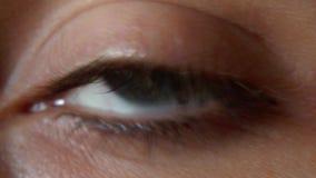 Ett blått öga stock video