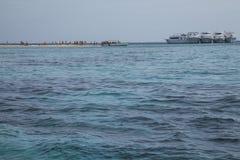Ett blått hav, Egypten Arkivbild