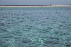 Ett blått hav, Egypten Royaltyfria Foton