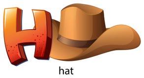 Ett bokstavsH för hatt Arkivbild