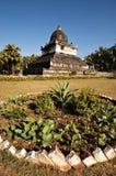 Ett buddistiskt tempel i Luang Prabang, Laos royaltyfri bild