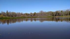 Ett damm i den Brazos dalen Texas Fotografering för Bildbyråer