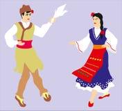 Ett danspar Fotografering för Bildbyråer