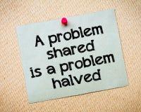 Ett delat problem är ett halverat problem arkivfoton
