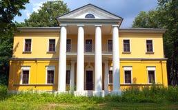 Ett dröm- hus med kolonner Arkivbild