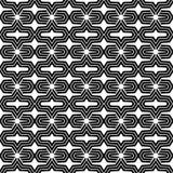 Ett elegantt svartvitt, vektormodell Fotografering för Bildbyråer