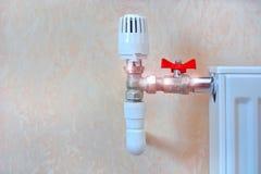 Ett element med det termiska huvudet och vattenklappet royaltyfri fotografi