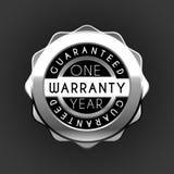 Ett emblem för årsgarantisilver som isoleras på vit bakgrund set vektor för guaranteeetikettförsäljning royaltyfri illustrationer