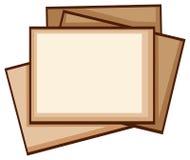 Ett enkelt färgat skissar av fotoramar Arkivfoto