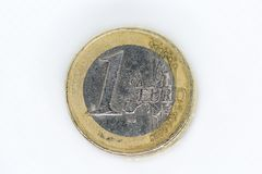 Ett euromynt arkivfoton