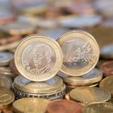 Ett euromynt Spanien Arkivbilder