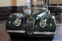 Ett exempel av exotiska bilar på skärm, Saratoga bilmuseum, New York, 2016 Arkivfoton