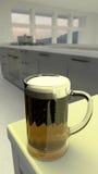 Ett exponeringsglas av öl Arkivbild