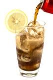 Ett exponeringsglas av cola Royaltyfri Fotografi