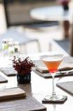 Ett exponeringsglas av den välkomna drinken för vattenmeloncoctail Royaltyfria Foton