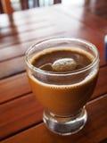 Ett exponeringsglas av kaffe Arkivbild