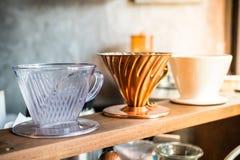 Ett exponeringsglas av kaffe Royaltyfria Bilder