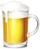 Ett exponeringsglas av kallt öl Royaltyfri Fotografi