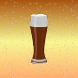 Ett exponeringsglas av mörk öl Arkivfoto