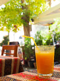 Ett exponeringsglas av mosig viskös fruktsaft Arkivbilder