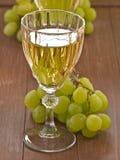 Ett exponeringsglas av vitt vin Arkivbild