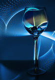 Ett exponeringsglas av wine fotografering för bildbyråer