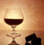 Ett exponeringsglas med wine Royaltyfria Foton