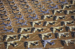 Ett fält av B-52 flygplan, Davis Montham Air Force Base, Tucson, Arizona Royaltyfri Foto